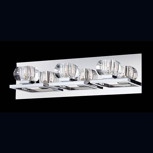 Eurofase Lighting Casa Chrome Three-Light Bath Fixture with Clear Glass