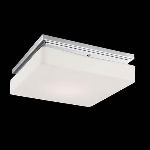 Eurofase Lighting Ellsworth Chrome 11.5-Inch Wide LED Flush Mount with Opal White Glass