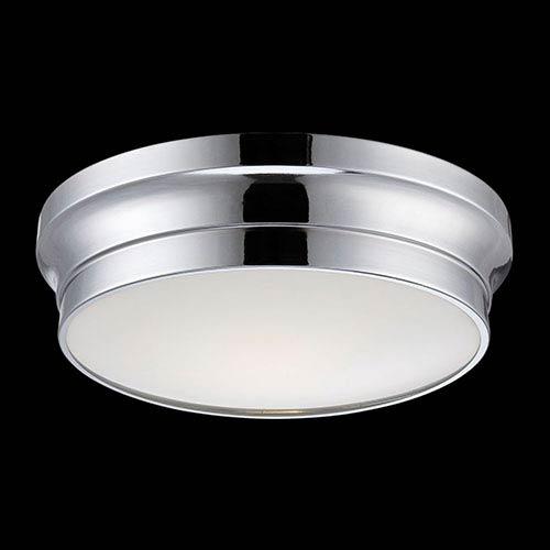 Eurofase Lighting Jane Chrome 12-Inch Wide LED Flush Mount with Opal White Glass