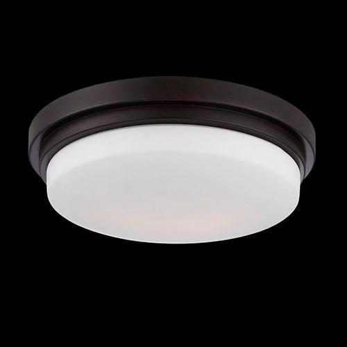 Eurofase Lighting Wilson Bronze 12.5-Inch Wide LED Flush Mount with Opal White Glass