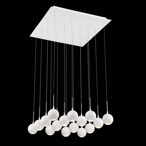 Patruno White 25-Inch LED Mini Pendant