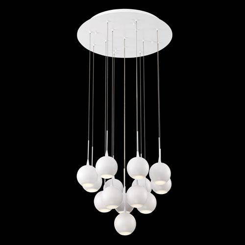 Patruno White 19-Inch LED Mini Pendant
