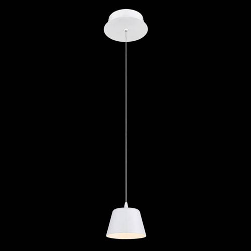Bowes Matte White LED Mini Pendant