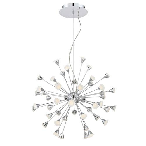 Esplo Chrome LED 48-Light Pendant