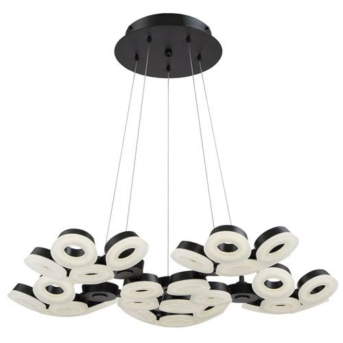 Glendale Black LED 30-Light Chandelier