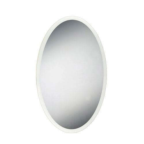 LED 35 x 23-Inch Edge Lit Oval Vanity Mirror