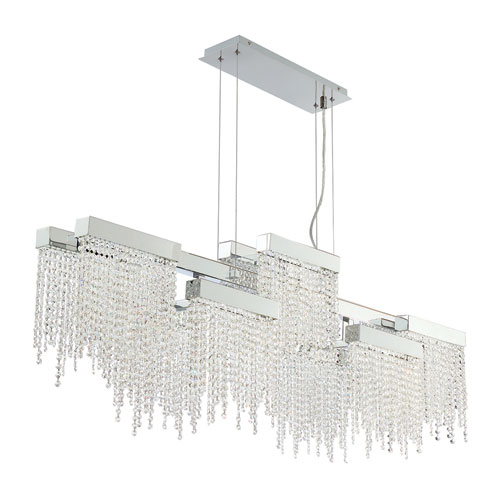 Rossi Chrome LED 10-Light Chandelier