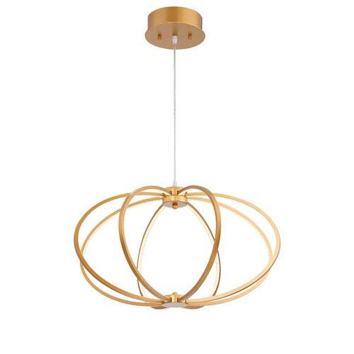 Leggero Gold LED Eight-Light Pendant