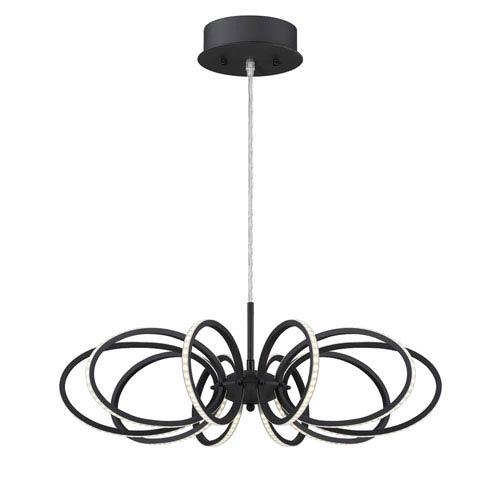 Tela Black LED 10-Light Pendant