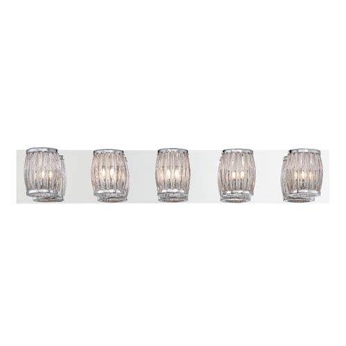 Barile Chrome Five-Light Bath Light