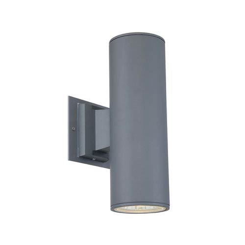 Grey Two-Light LED Outdoor Wall Mount