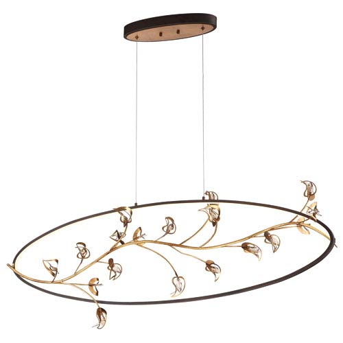 Eurofase Lighting Peralta Gold LED Linear Pendant
