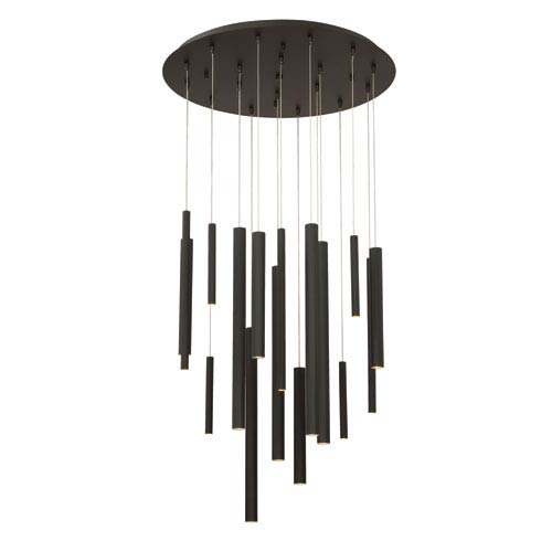 Santana Black 18-Light LED Pendant