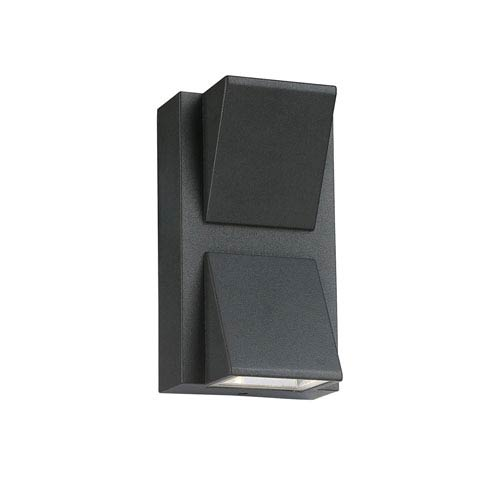 Graphite Grey Six-Inch Two-Light LED Outdoor Wall Mount
