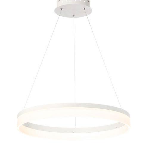 Minuta Sand White 23-Inch LED Pendant