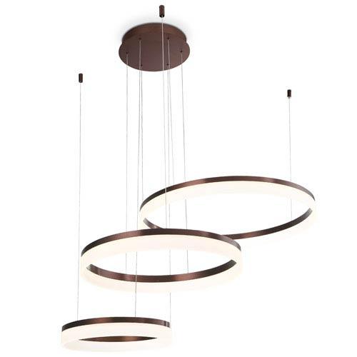 Eurofase Lighting Minuta Bronze LED Three-Ring Pendant