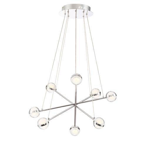 Lazio Chrome Eight-Light LED Chandelier