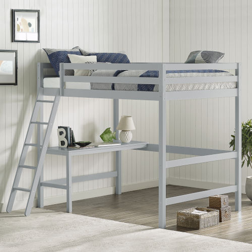 Caspian Pine and MDF Wood Loft Bed