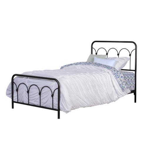 Jolene Textured Black Twin Bed