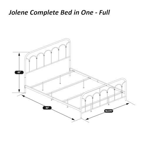 Jolene Textured Black Full Bed