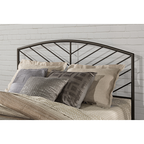 Essex Speckled Pewter Metal Headboard