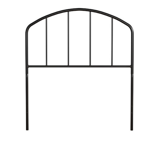 Tolland Black 39-Inch Metal Twin Headboard with Arched Spindle Design