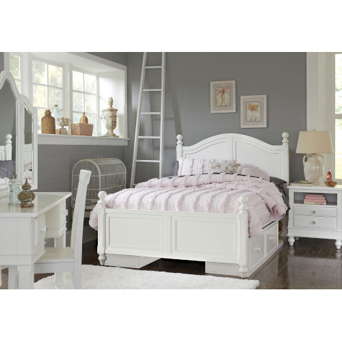 Lake House White Full Arch Bed With Storage