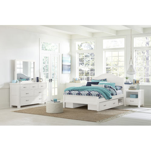 Highlands White Twin Arch Bed With 2 Storage Unit