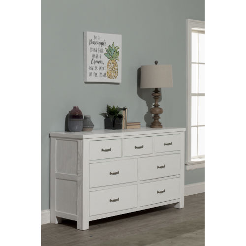 Highlands White 7 Drawer Dresser