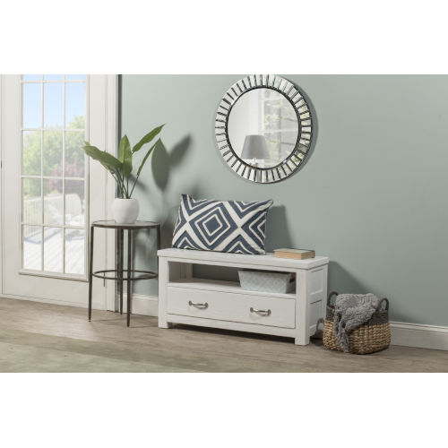 Highlands White Dressing Bench