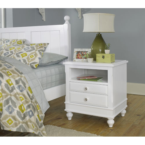 Lake House White Nightstand