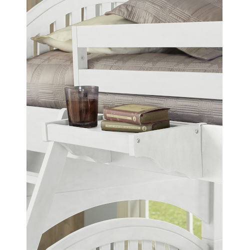 Lake House White Hanging Nightstand