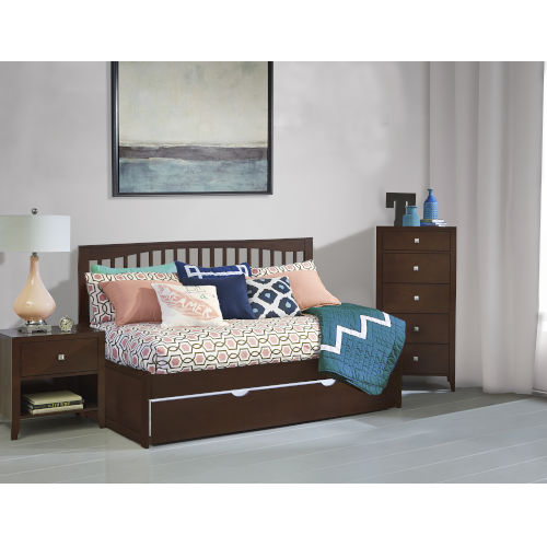 Pulse Cherry Twin Daybed With Trundle