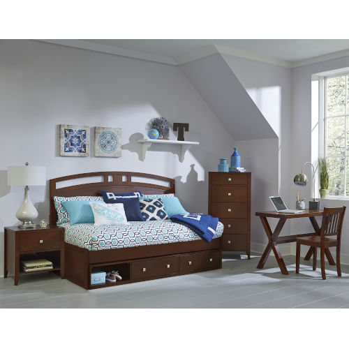 Pulse Cherry Twin Arch Daybed With Storage