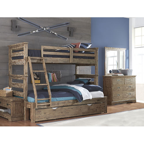 Ne Kids Oxford Cocoa Twin Over Full Bunk Bed With Trundle