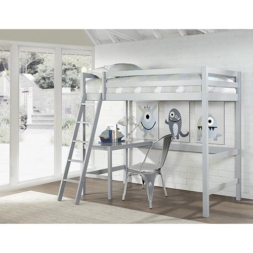 Hillsdale Caspain Twin Study Loft, Gray