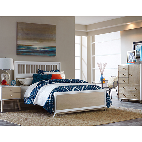 NE Kids East End Taupe and White Spindle Full Bed