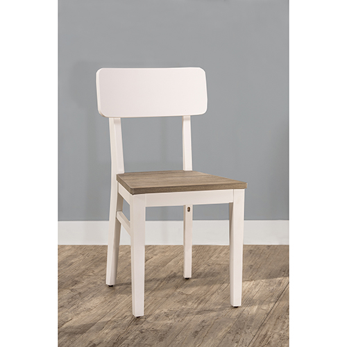 East End Taupe and White Chair