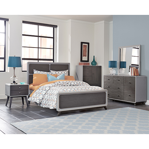 East End Gray Panel Full Bed