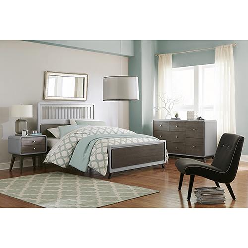 NE Kids East End Gray Spindle Full Bed