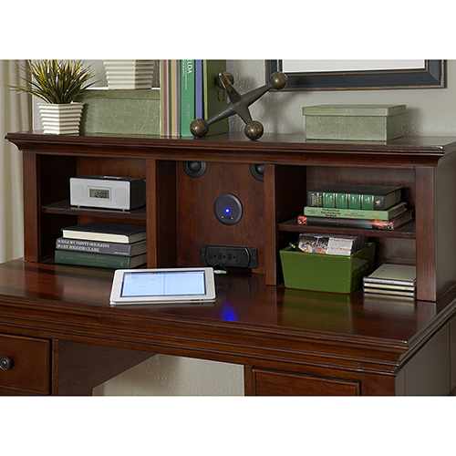 Walnut Street Chestnut Entertainment Desk Hutch