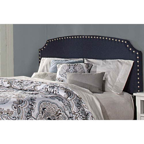 Lani Upholstered Headboard - Full - Navy Linen - Headboard Frame Not Included