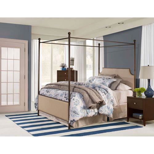 McArthur Canopy Bed Set - Bronze Finish - King - Bed Frame Included