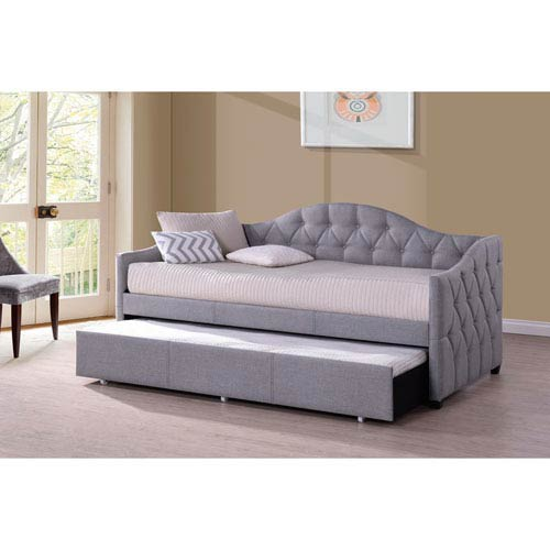 Jamie Daybed with Trundle - Gray Fabric
