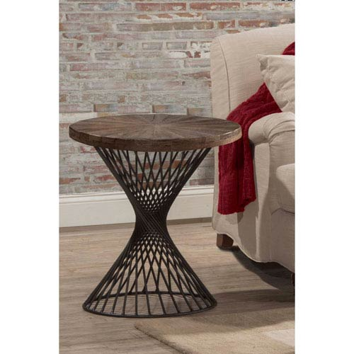 Kanister Round End Table