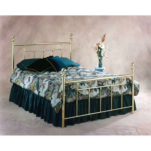 Hillsdale Furniture Chelsea Classic Brass King Complete Bed