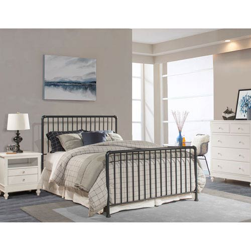 Hillsdale Furniture Brandi Bed Set - Queen - Bed Frame Included, Navy