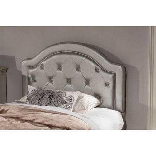 Hillsdale Furniture Karley Headboard - Full - Headboard Frame Included - Silver Faux Leather