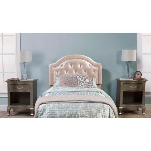 Hillsdale Furniture Karley Headboard - Full - Headboard Frame Included - Champagne Faux Leather