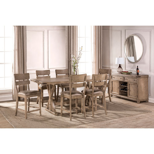 Hillsdale Furniture Leclair 7 Piece Counter Height Dining Set
